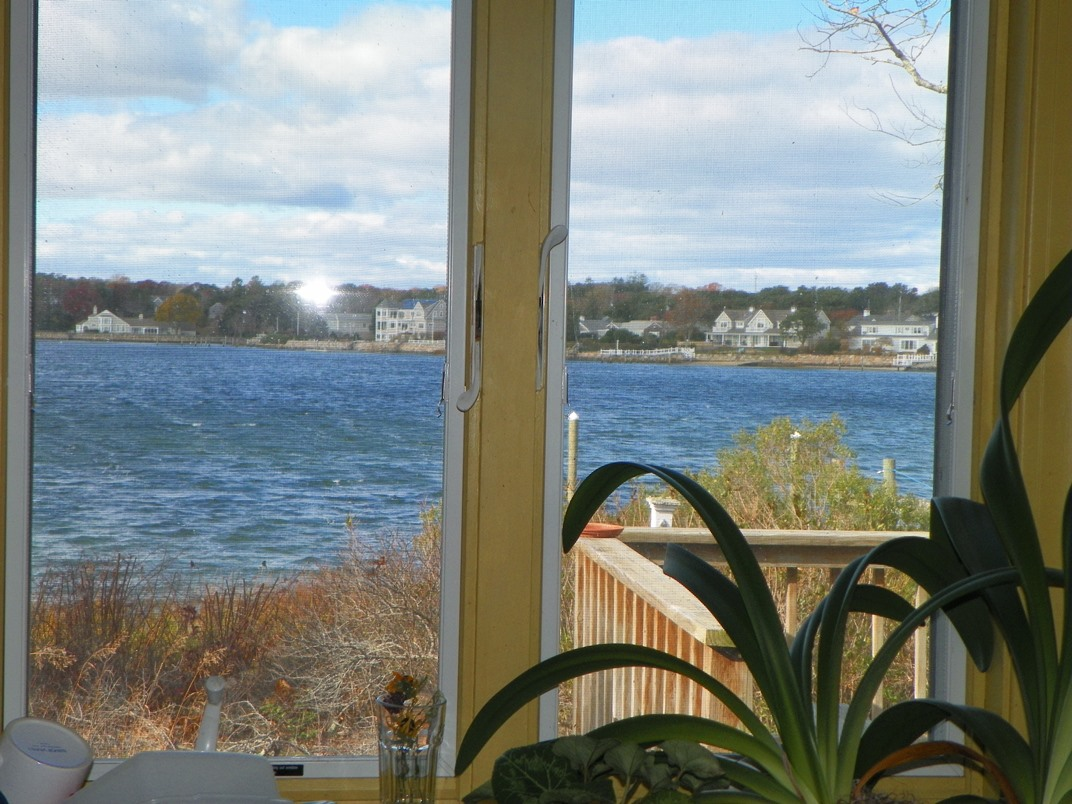 View from kitchen at 101 Farm Lane, South Dennis, MA 02660