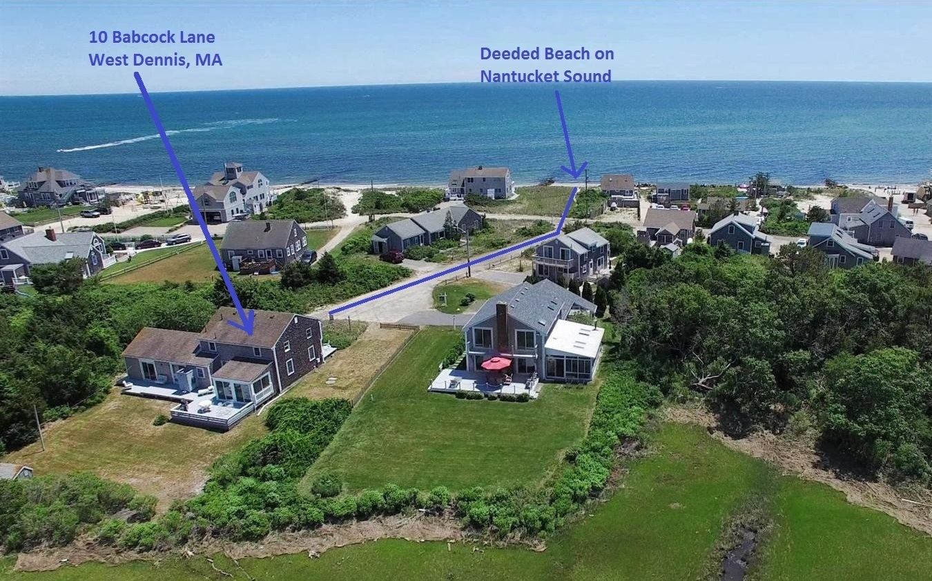 Deeded private beach at 10 Babcock Lane, West Dennis, MA 02670