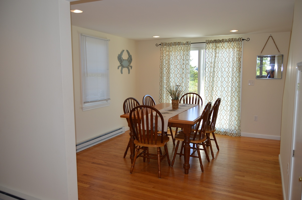 Dining room at 10 Babcock Lane, West Dennis, MA 02670