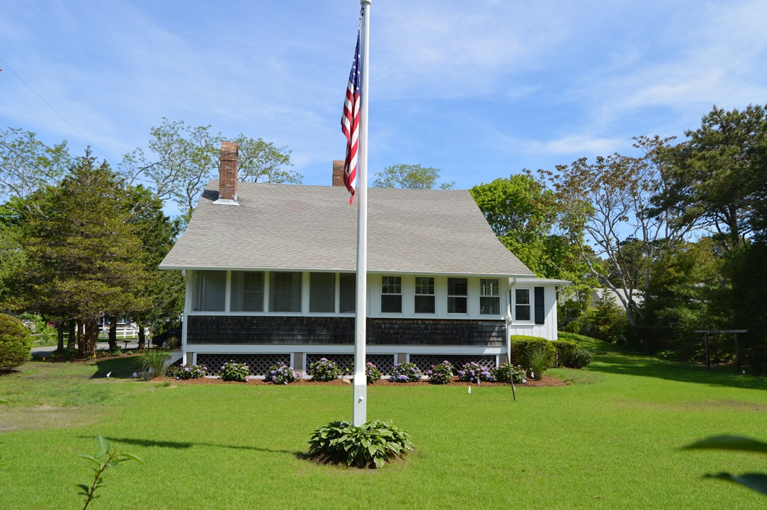 Flagpole in back of 110 South Village Road, West Dennis, MA 02670