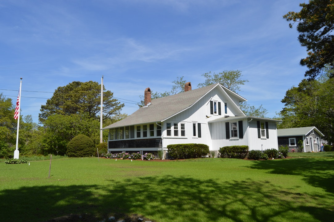 Large yard at 110 South Village Road, West Dennis, MA 02670