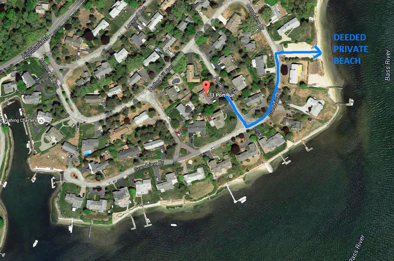 Aerial View of 11 Port Run, South Yarmouth, MA 02664