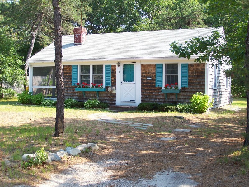 Front view of 16 Regan Rd., West Dennis, MA 02670 summer vacation rental on Cape Cod