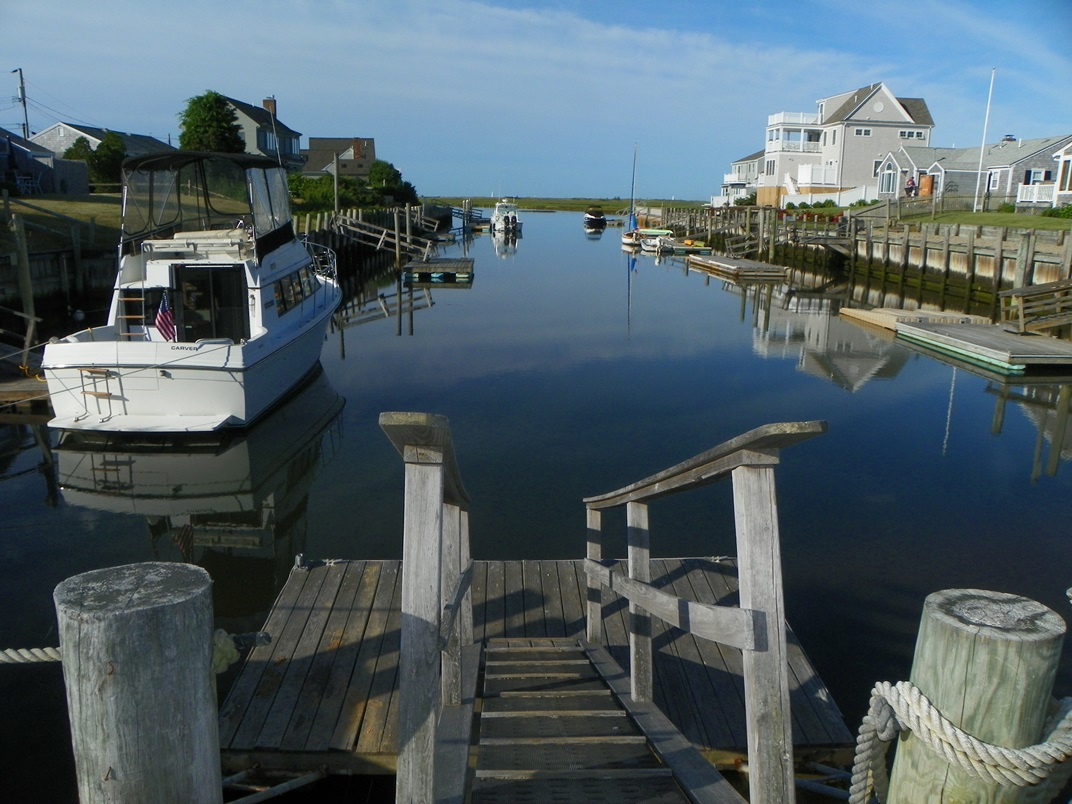 Private dock of 54 Surfside Road, West Dennis, MA 02670