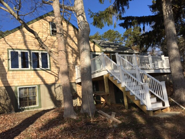 Spacious deck at 5 Barnacle Way, So. Dennis, MA 02660
