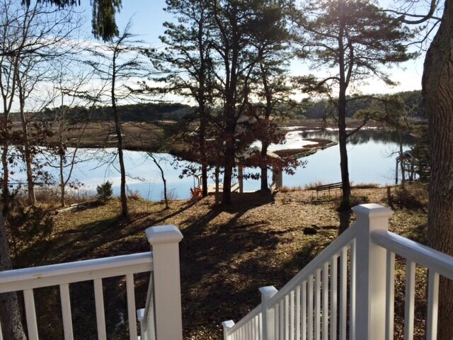 View of Swan River from deck at 5 Barnacle Way, So. Dennis, MA 02660