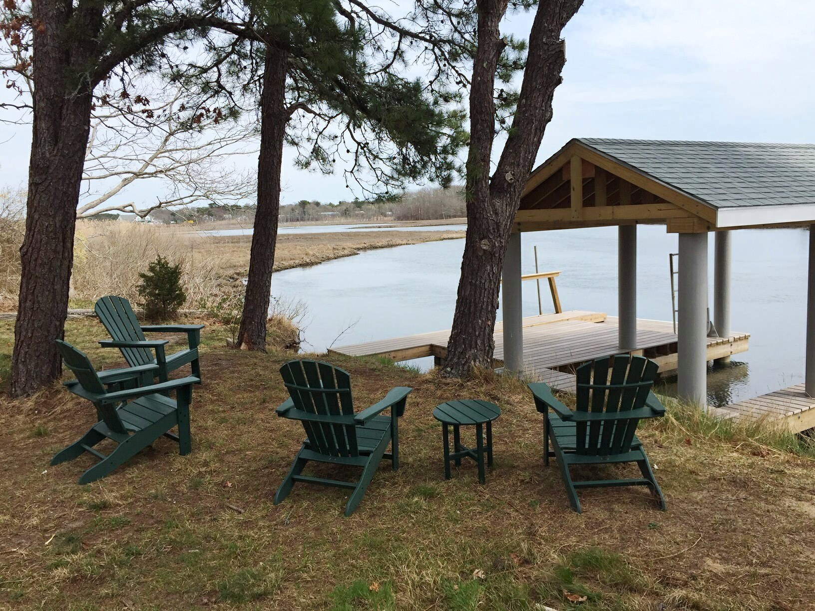 Swan River and dock at 5 Barnacle Way, So. Dennis, MA 02660