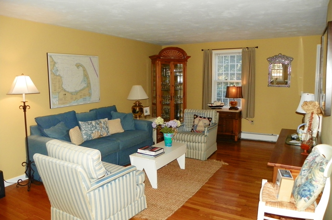 Family Room at 66 Kelleys Pond Road, West Dennis, MA 02670