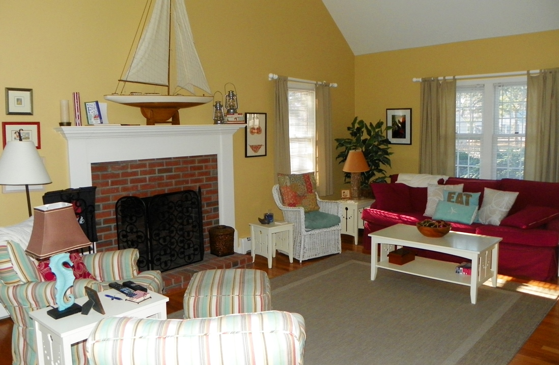 Living Room at 66 Kelleys Pond Road, West Dennis, MA 02670