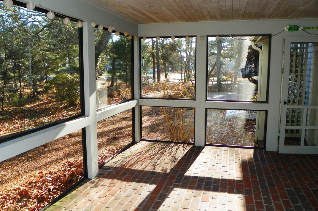 Enclosed patio at 66 Kelleys Pond Road, West Dennis, MA 02670