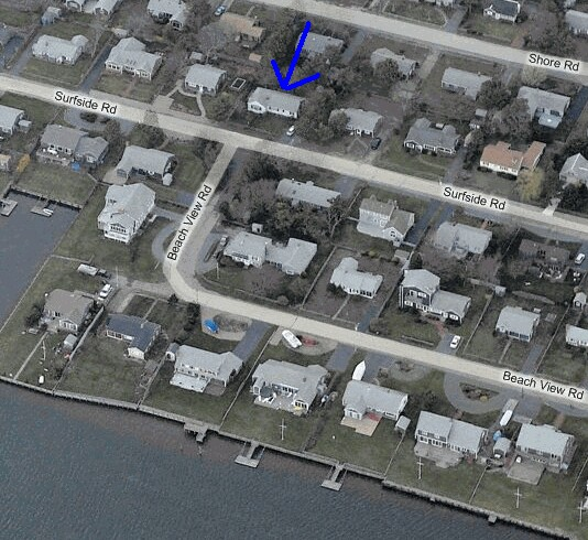 Closer Aerial View of 74 Surfside Road, West Dennis, MA for sale by Cranberry Real Estate 508-394-1700