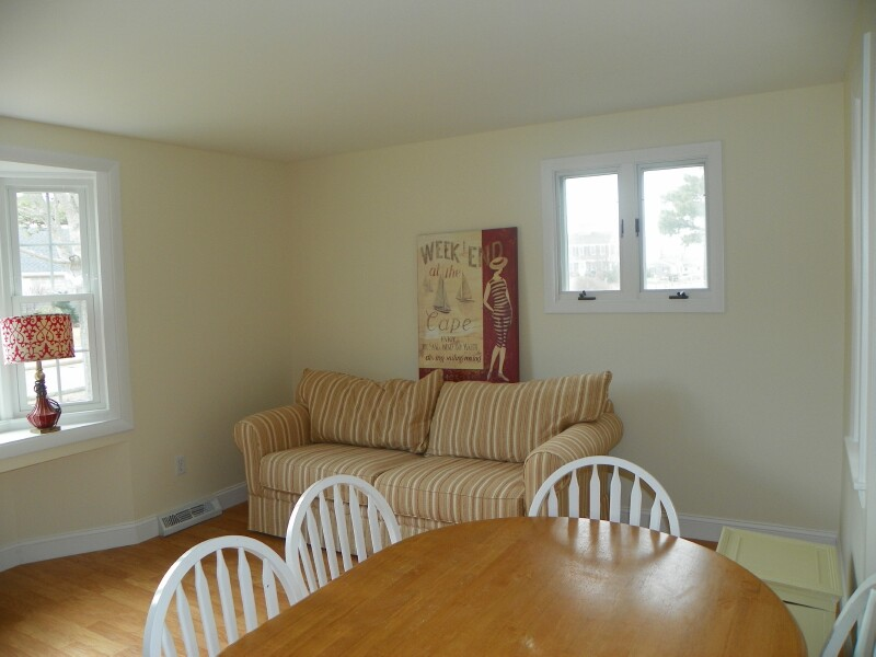 Family Room-Dining Area of 74 Surfside Rd., West Dennis, MA for sale by Cranberry Real Estate 508-394-1700